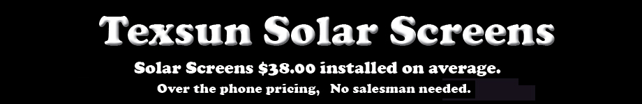 Texsun Solar Screens Guarantee